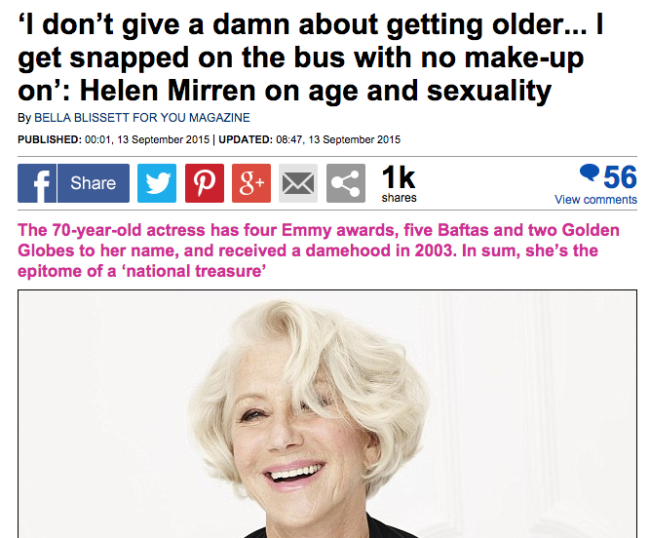helen mirren face