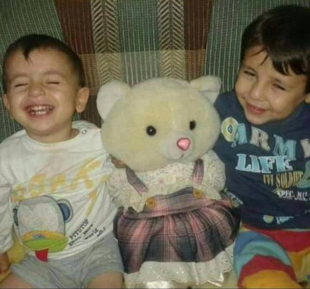 Galip Kurdi, five, and his three-year-old brother Aylan
