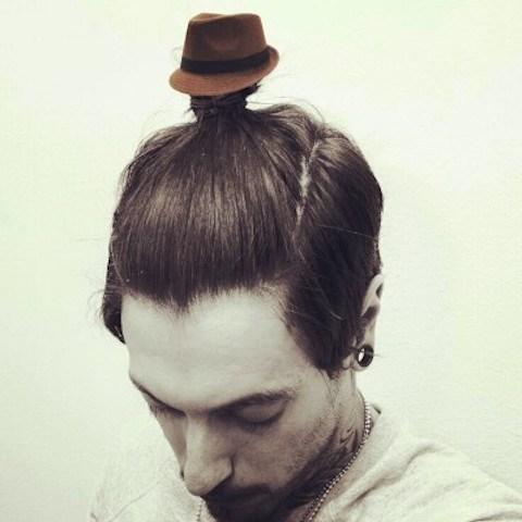 manbun hats