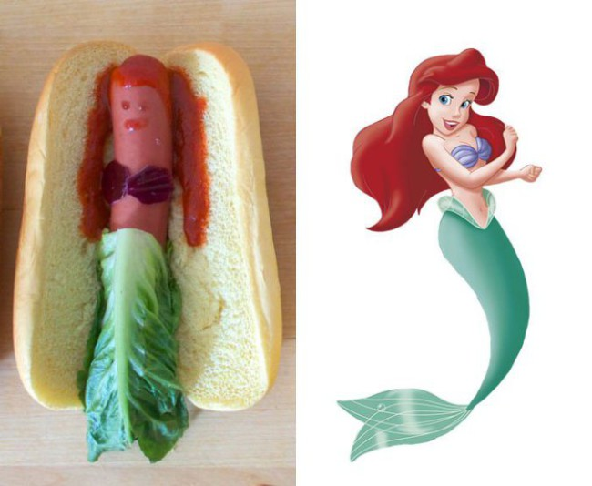 disney princess hotdog