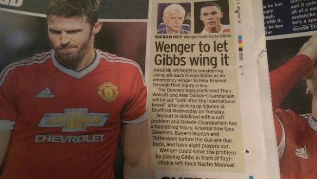 Gibbs wing Arsenal