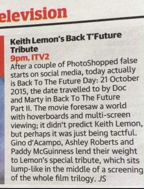 Keith Lemon Marty Mcfly