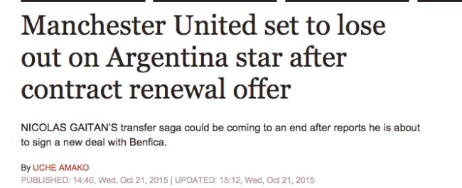 gaitan manchester united