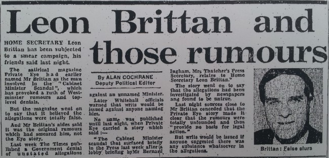 Daily Express, 27th June 1984