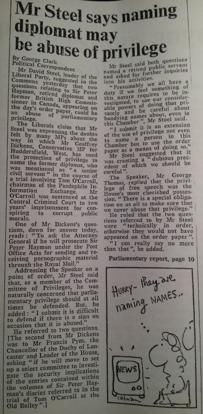 The Times, 19th March 1981