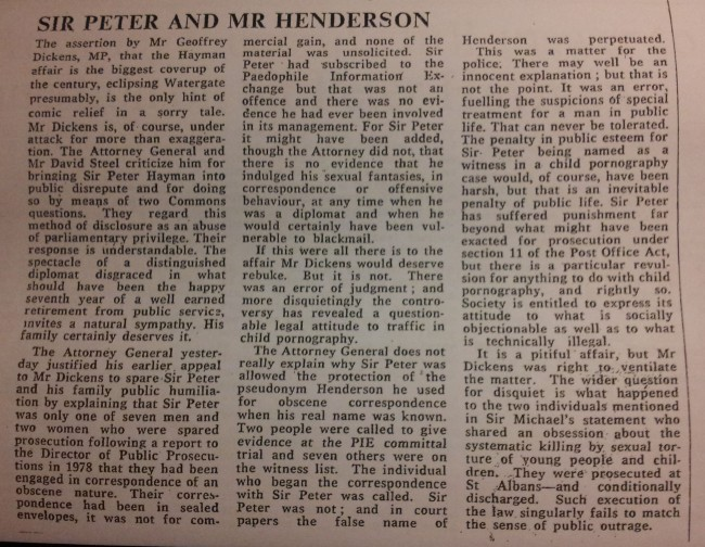 The Times (London), 20th March 1981