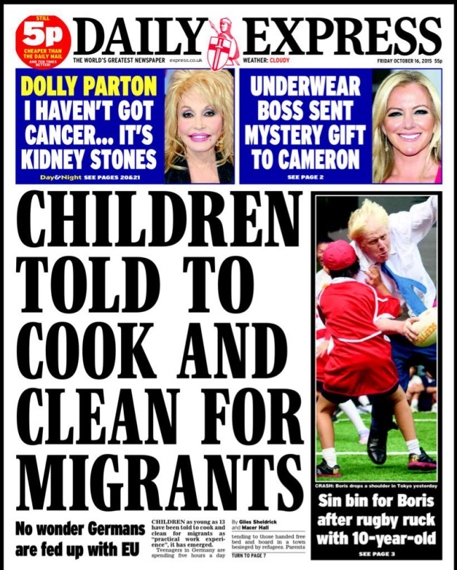 daily express scare