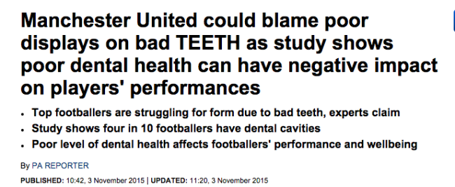 man united teeth
