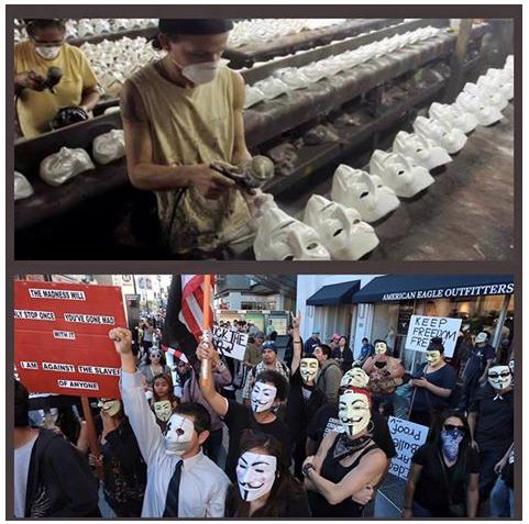 Guy Fawkes masks idiots