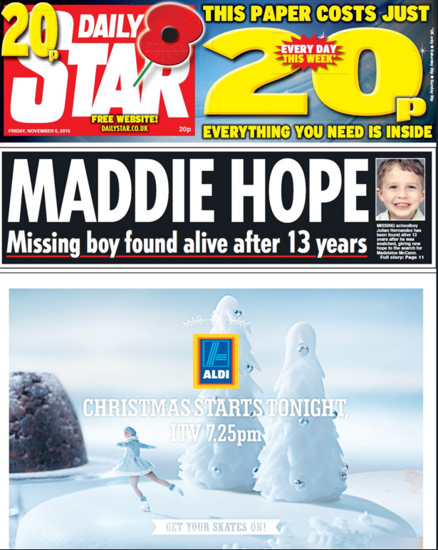 maddie mcann daily star