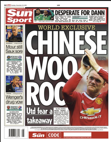 china wayne rooney