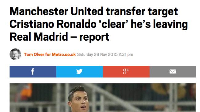 metro united ronaldo