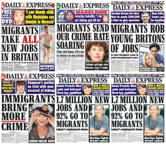 daily express migrants