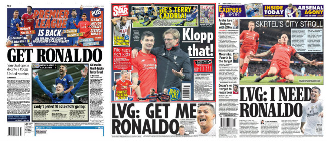 ronaldo back pages