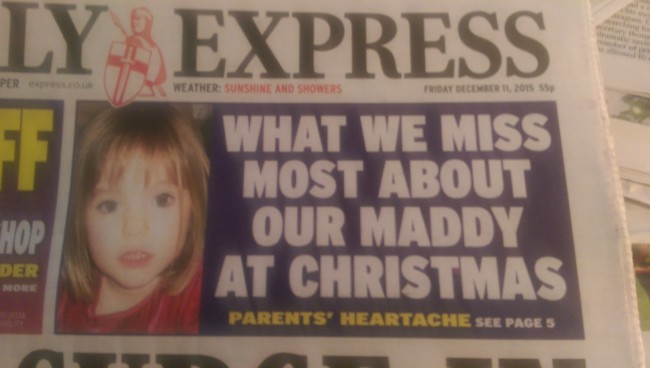 DAily Express maddie