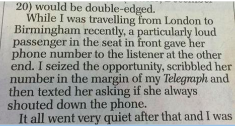daily telegraph letter of the year