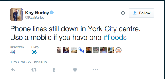 Kay Burley offers top tips to York flood victims