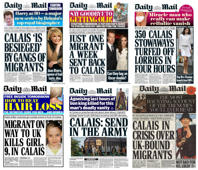daily mail calais jungle