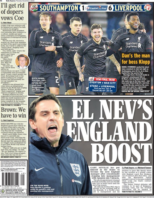 daily express gary neville