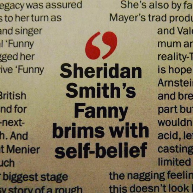 sheridan smith fanny