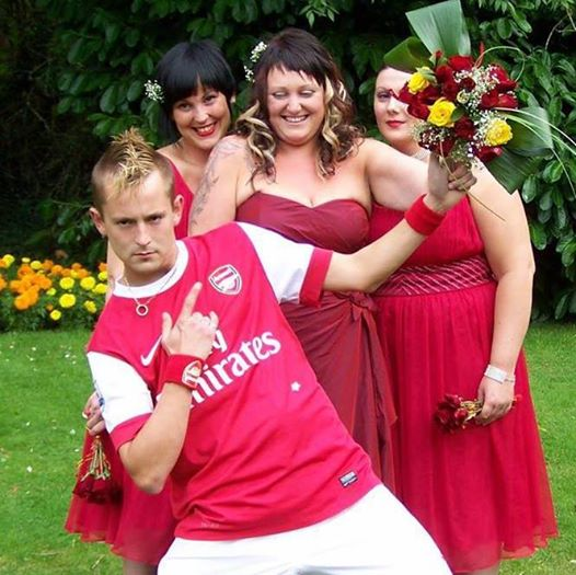 arsenal fan kit wedding