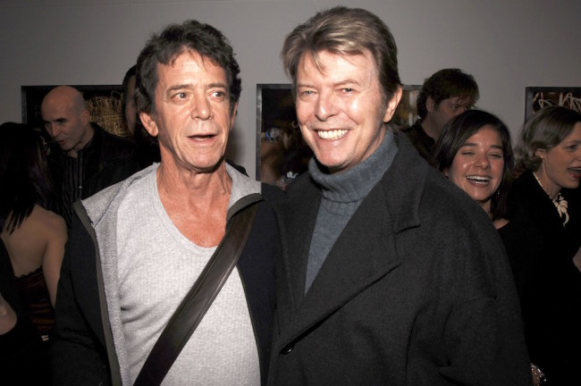NEW YORK - JANUARY 19: Lou Reed (L) and David Bowie (R) attend the opening of Lou Reed NY photography exhibit at the Gallery at Hermes on January 19, 2006 in New York City. (Photo by Andrew H. Walker/Getty Images)