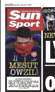 Ozil Newcastle