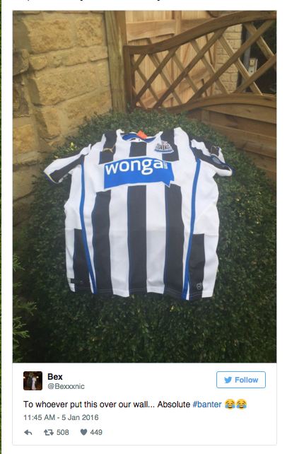 Vardy shirt newcastle fan