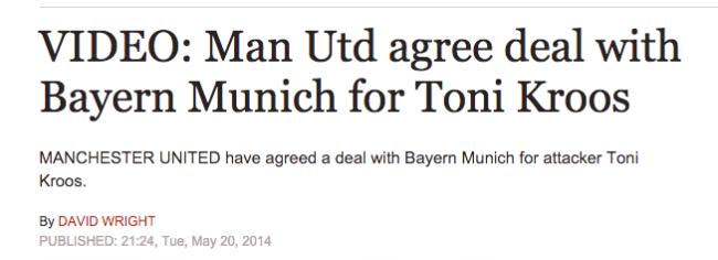 Toni Kroos Man United