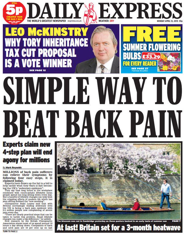 daily express back pain