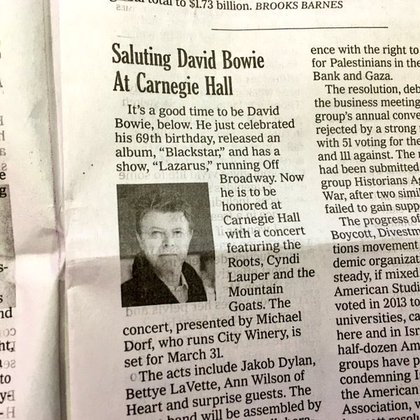 new york times david bowie