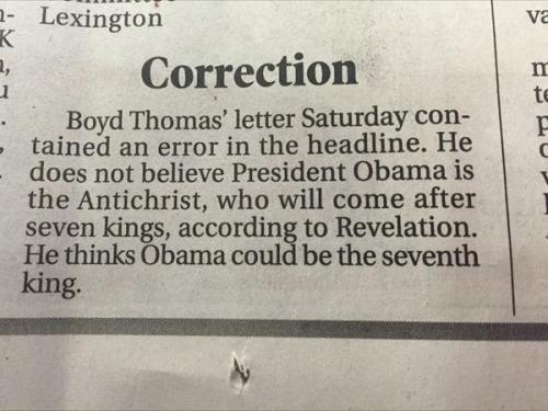 obama anti-christ letter