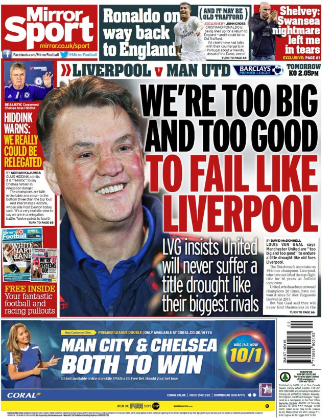 van gaal liverpool backpage
