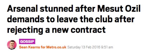 Ozil Arsenal leaves
