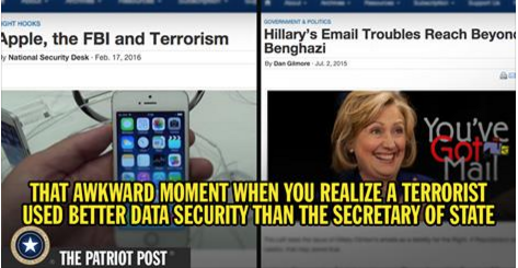 Hilary Clinton versus Apple and the Sat Bernadino killers