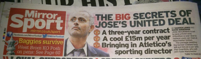 mourinho van gaal united daily mirror