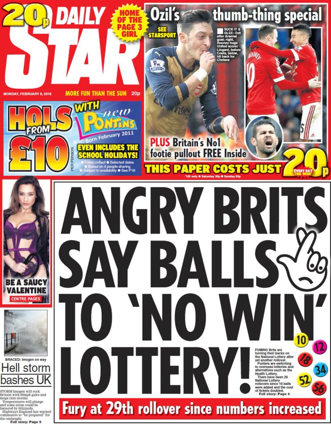 national lottery daily star