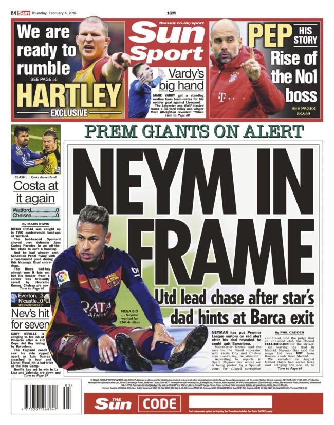 neymar the sun