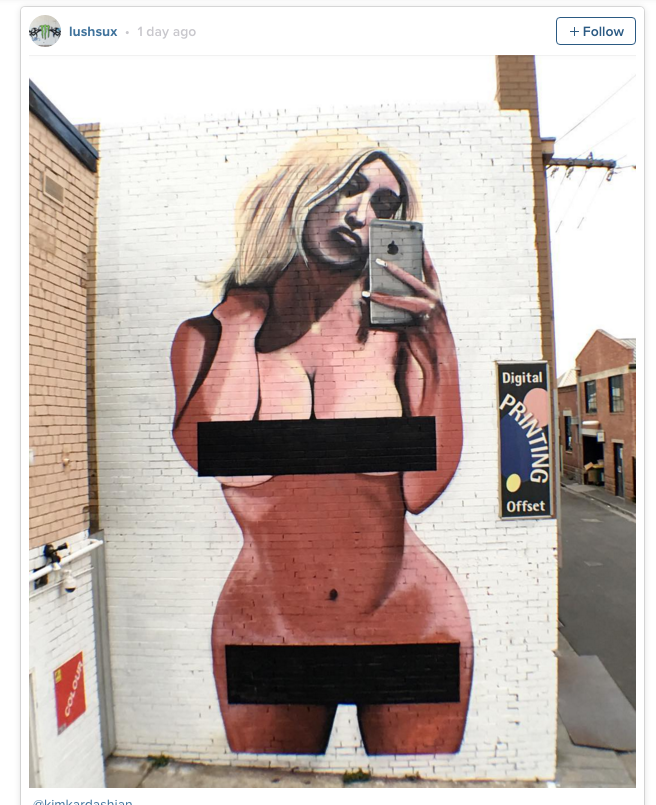 Kim Kardashian mural