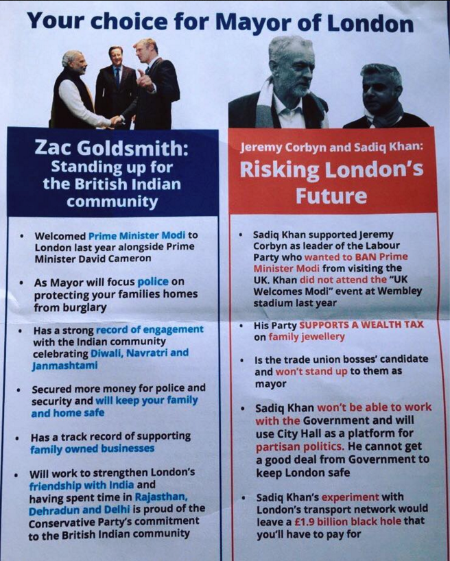 zac goldsmith flyer mayor