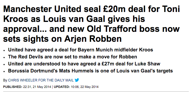 daily mail kroos manchestr united