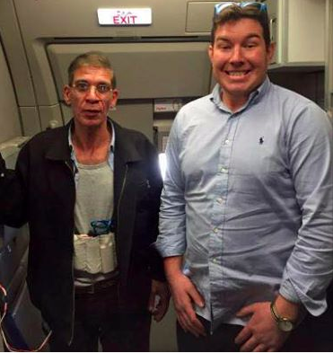 """An Aberdeen man posed for a photo with a hijacker who used a fake suicide belt to take control of an Egyptian plane."""