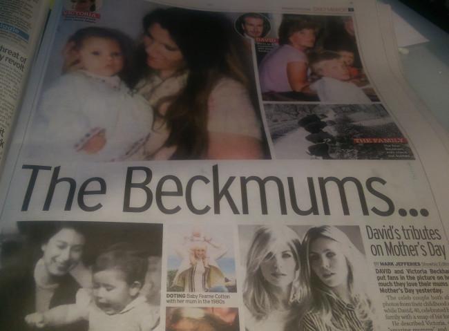 beckham mothers day