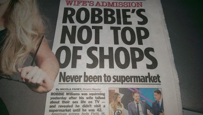 robbie williams supermarket