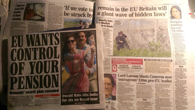 EU vote DAily Express UKIP