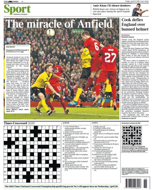 Liverpool Dortmund klopp miracle