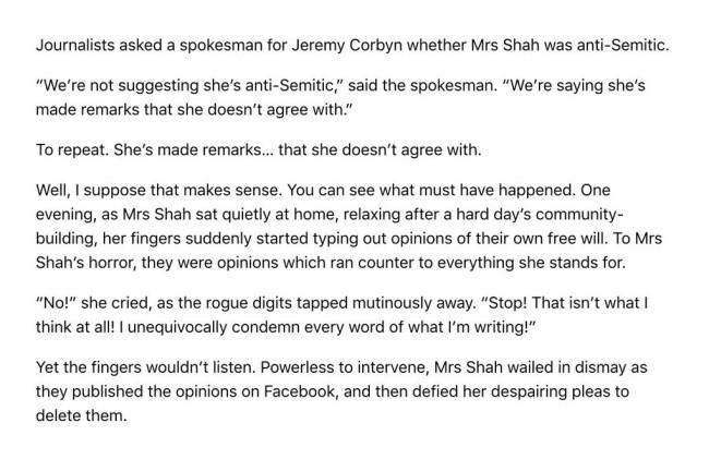 Naz Shah Jews racist