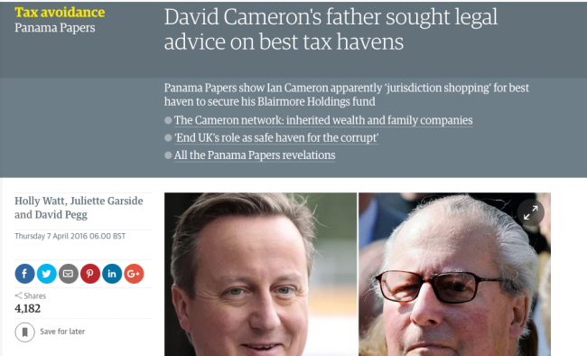 Cameron guardian tax