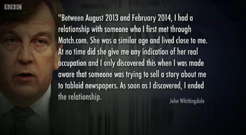 John Whittingdale had relationship with 'dominatrix'
