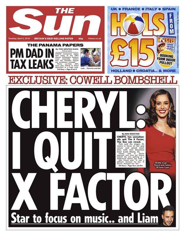 cheryl cole x factor quit
